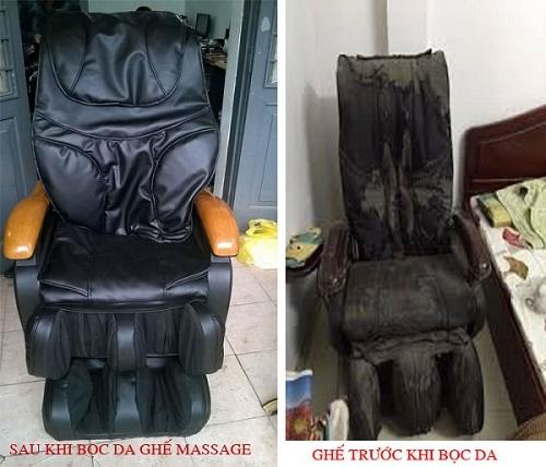 Hình ảnh ghế massage đã được thay da