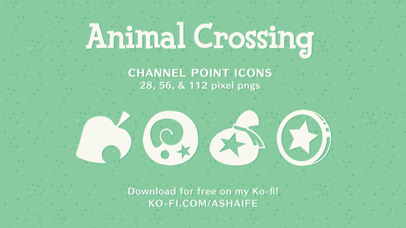Animal Crossing Icons For Twitch Channel Points Ko Fi Where