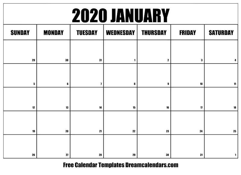 graphic regarding January Calendar Printable named Ko-fi - Printable January 2020 Calendar - Ko-fi ❤️ Where by