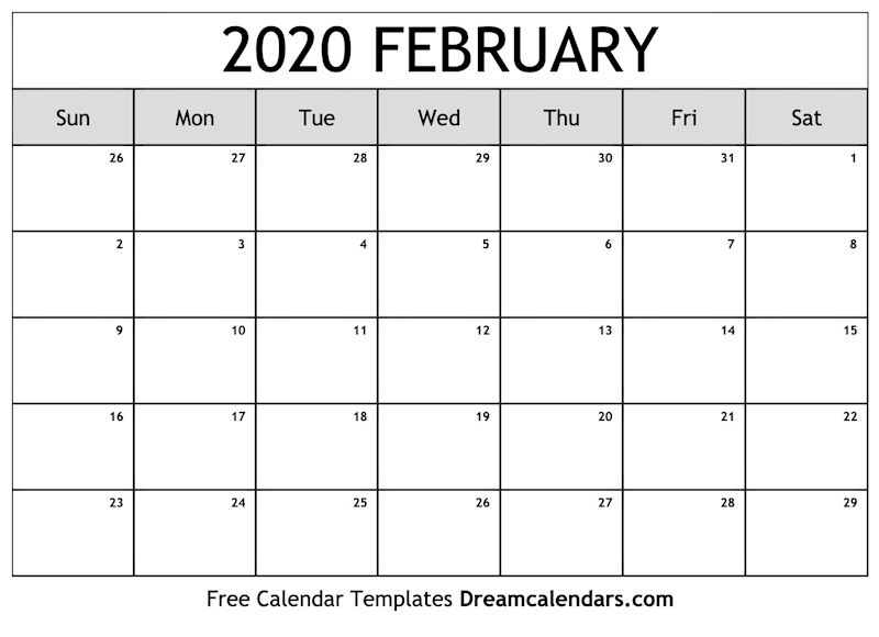photograph about Printable February Calendar named Ko-fi - Printable February 2020 Calendar - Ko-fi ❤️ Wherever