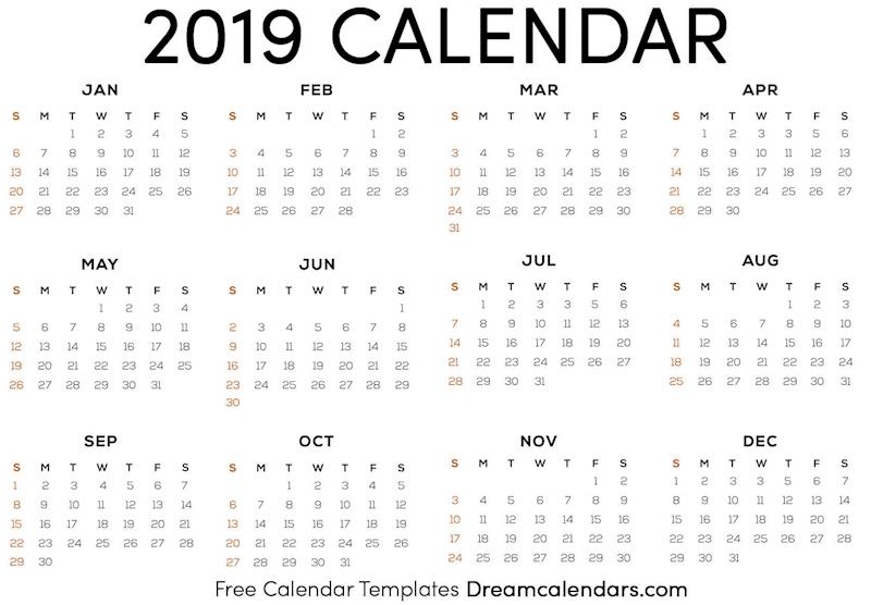 Ko-fi - Printable 2019 Calendar - Ko-fi ❤️ Where creators get paid