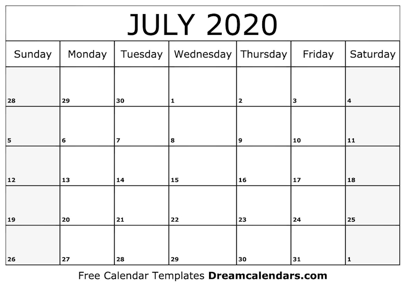 picture relating to Printable July Calendar referred to as Ko-fi - Printable July 2020 Calendar - Ko-fi ❤️ Where by