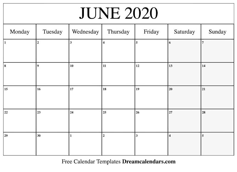 Printable Calendar June 2020.Printable June 2020 Calendar Ko Fi Where Creators Get