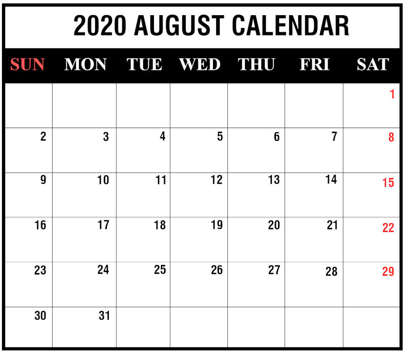 graphic regarding 2020 Calendar Printable referred to as Ko-fi - August 2020 Calendar Printable - Ko-fi ❤️ The place