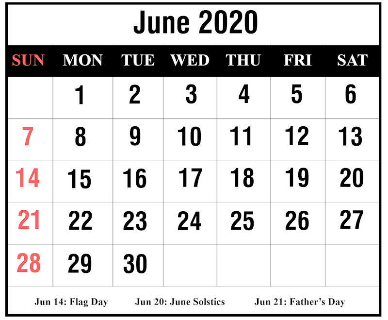 Calendar June 2020.Ko Fi June 2020 Calendar Printable Ko Fi Where Creators Get