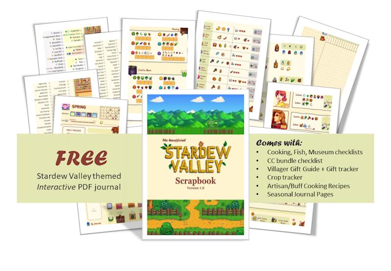 Free Stardewvalley Themed Guidechecklistjournal
