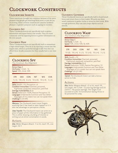 Felmorn's Guide to Clockwork Creation 5e Expansion - Ko-fi